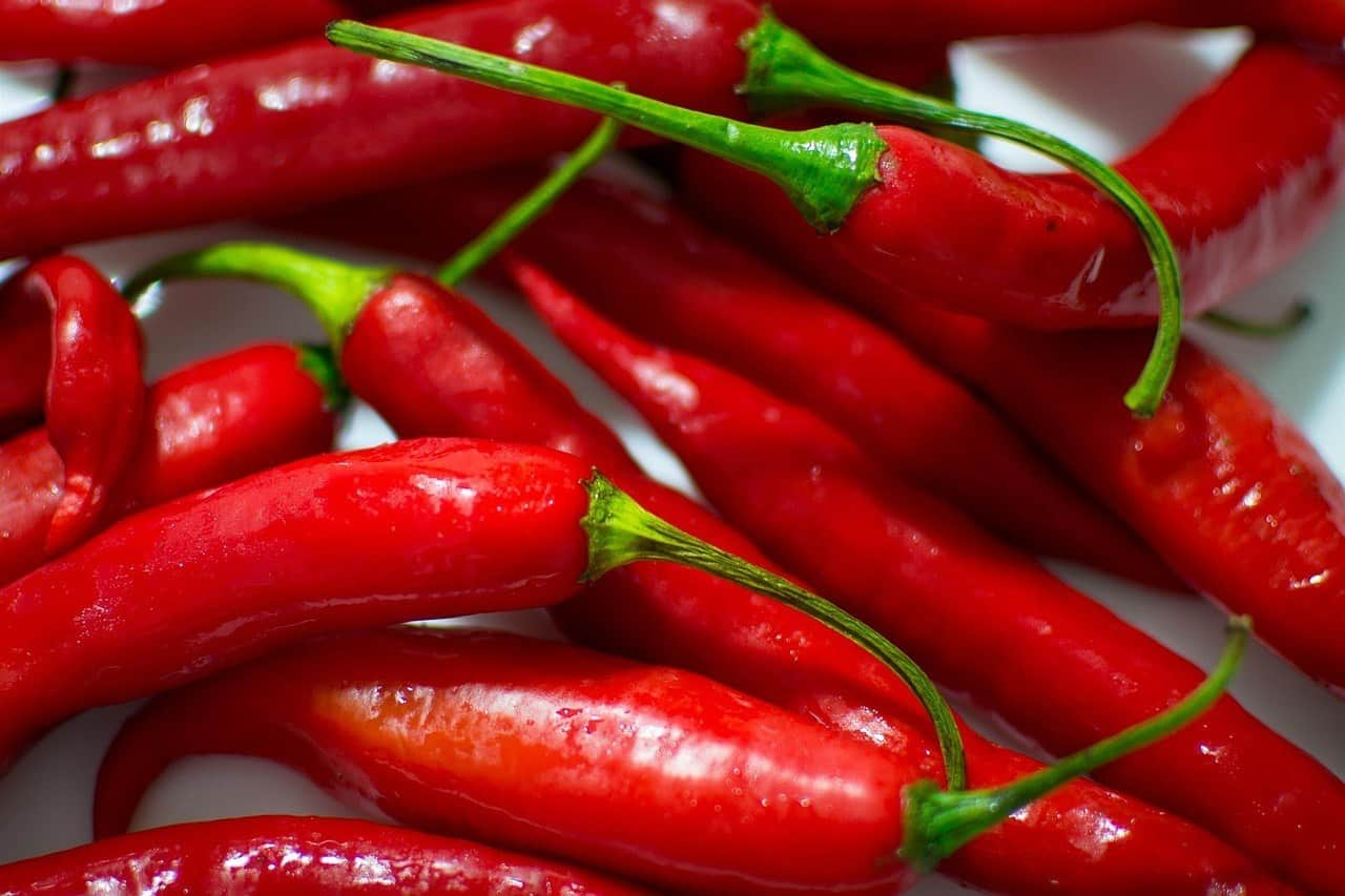 Cayenne Pepper is hot and prevents eating frenzies